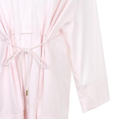low v-neck boxy shirt dress